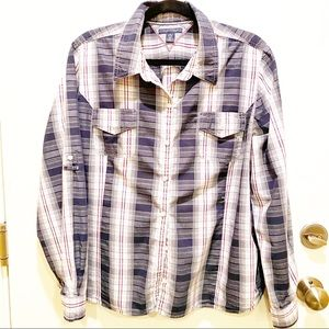 Tommy Hilfiger Button Down top with plaid print